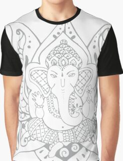Lord Ganesha Lotus Graphic T-Shirt