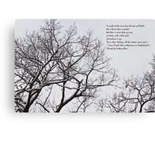 Snow In The Woods - Lewis Carroll Quotation Canvas Print