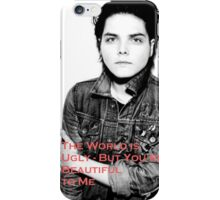Gerard Way - The World is Ugly iPhone Case/Skin