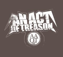 AN ACT OF TREASON 'Grey Logo T-Shirt' by anactofjamie