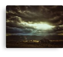 ...and the heavens opened Canvas Print
