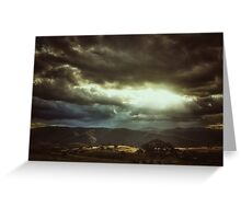 ...and the heavens opened Greeting Card