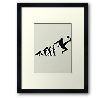 Football Evolution Framed Print