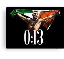 CONOR MCGREGOR 13 SECONDS Canvas Print