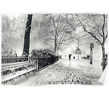 Winter Night - Madison Square Park - New York City Poster