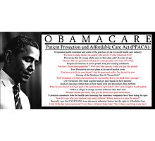 Silly Obamacare Poster Photographic Print