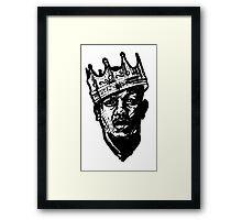 King of Rap 2013 Urban Art Framed Print