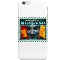 GREETINGS FROM MEIN LAND agua stamp iPhone Case/Skin