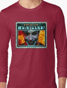 GREETINGS FROM MEIN LAND agua stamp Long Sleeve T-Shirt