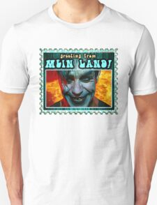 GREETINGS FROM MEIN LAND agua stamp T-Shirt