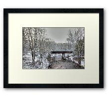 Derelict Railroad Bridge - Green Lane Pennsylvania USA Framed Print