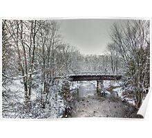 Derelict Railroad Bridge - Green Lane Pennsylvania USA Poster