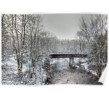 Derelict Railroad Bridge - Green Lane Pennsylvania USA Poster