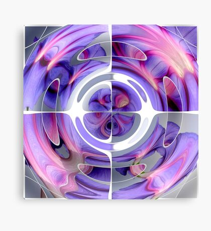 Abstract Morning Glory Fish Eye Collage Canvas Print