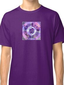 Abstract Morning Glory Fish Eye Collage Classic T-Shirt
