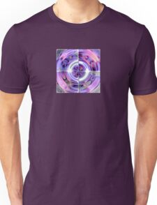 Abstract Morning Glory Fish Eye Collage Unisex T-Shirt