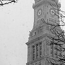 Custom House Tower in Snow by Erik Symes