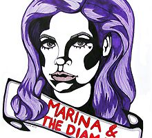 Marina and the Diamonds by willowbadillo