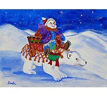 The Snowman's Caravan Photographic Print