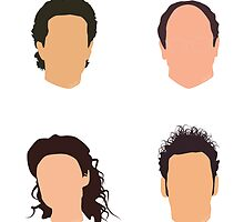 Seinfeld Minimalist Print - No Names by alainaborst