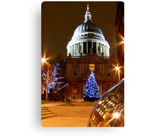 St Pauls Cathederal At Christmas - HDR Canvas Print