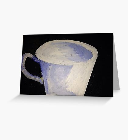 """White Tea Cup"" Greeting Card"