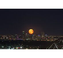 Super Moon over Denver Photographic Print