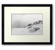 Icy Summit Framed Print