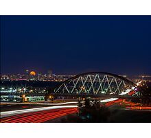 Super Moon over Denver 2 Photographic Print