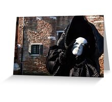 Carnival of Venice: Ghost - tell me everything Greeting Card