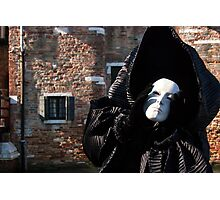 Carnival of Venice: Ghost - tell me everything Photographic Print