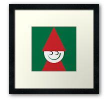 Santa smiling Framed Print