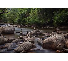 Boulder Creek Balancing Act 2 Photographic Print