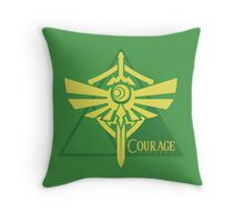 Triforce of Courage Throw Pillow