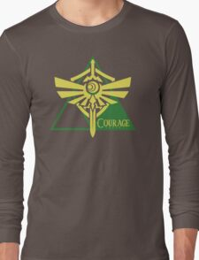 Triforce of Courage Long Sleeve T-Shirt