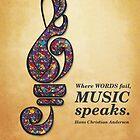 Music Speaks by BeehiveDezines