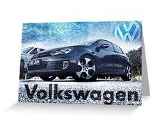 Volkswagen GTI Greeting Card