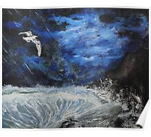 Shearwater (classical oil painting for posters and prints) Poster