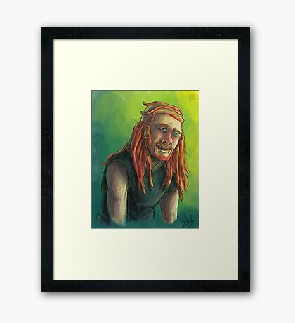 Pickles Watercolor Framed Print