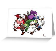 Legend of Santa : FourSacs Greeting Card