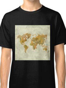 World Map Yellow Vintage Classic T-Shirt