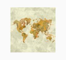 World Map Yellow Vintage Unisex T-Shirt