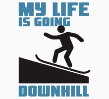 My life is going downhill: Snowboarding Baby Tee