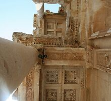 Corinthian Columns Celsus Library in Ephesus, Turkey by taiche