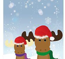 Cute Reindeers by Lucy Haldenby