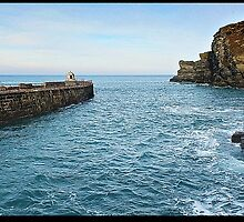 """ Harbour Entrance to Portreath"" by Malcolm Chant"