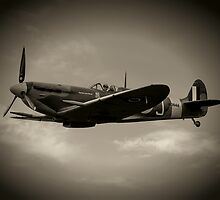 Mark 5b Spitfire W3644 by Roger Green