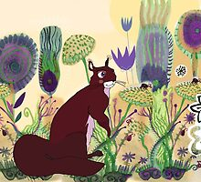 squirrel and plants by soogie