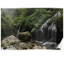Cascade in a minor gorge on the Yangtze River, China Poster