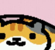 Neko Atsume - pink macaron Sticker